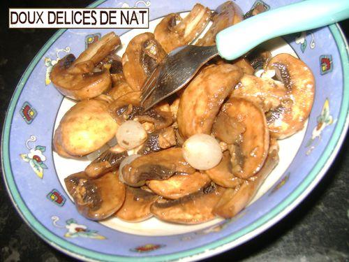 Salade de champignons de paris doux d lices de nat - Salade de champignons frais ...