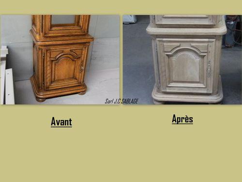 Meubles en ch ne enlevement du vernis et de la teinte for Decaper meuble vernis chene