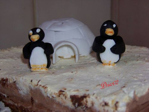 Gateau igloo pinguoin