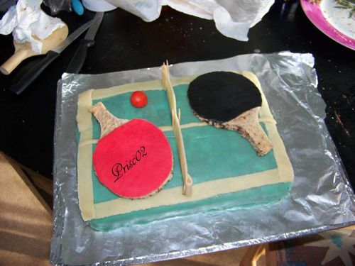 gateau table de ping