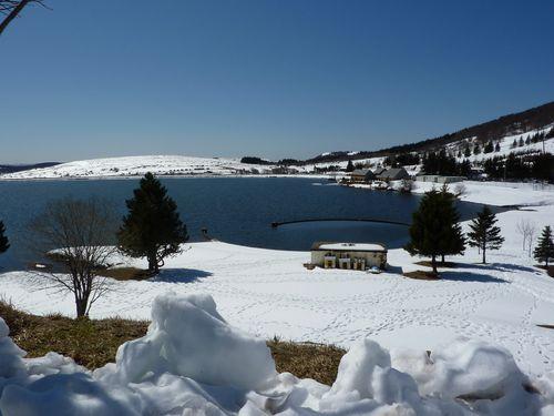 Lac des Hermines en hiver