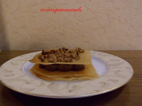 millefeuille croustillant chocolat noix de pcan