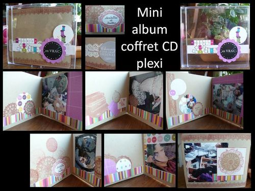 mini ds coffret CD plexi