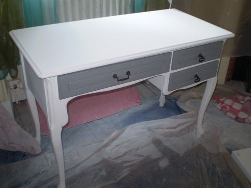 Bureau ann e 60 relook le blog de legrenierdemmanuelle for Buffet avec table escamotable