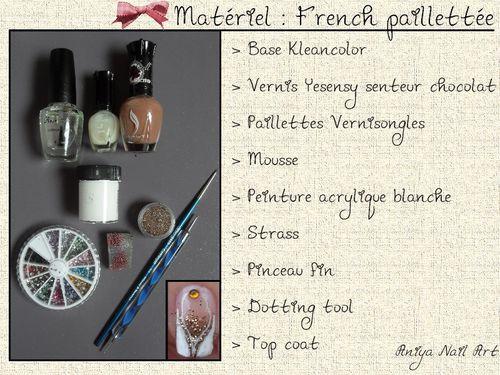 matériel french paillettée