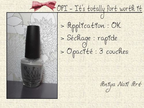 OPI - It's totally fort worth it