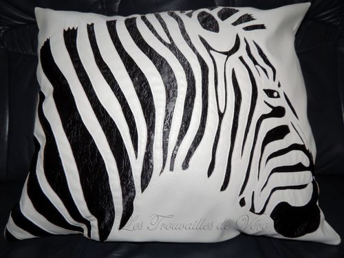 coussin zebre
