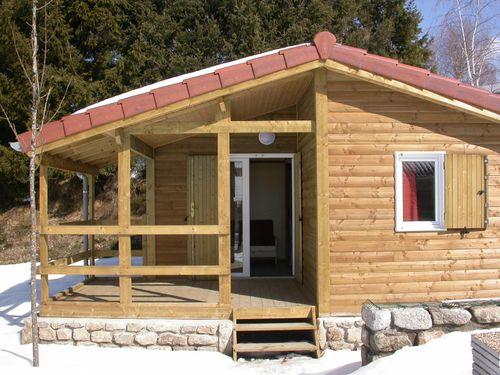Chalet bois p lago 2 chambres 5 couchages terrasse for Fabricant de chalet bois