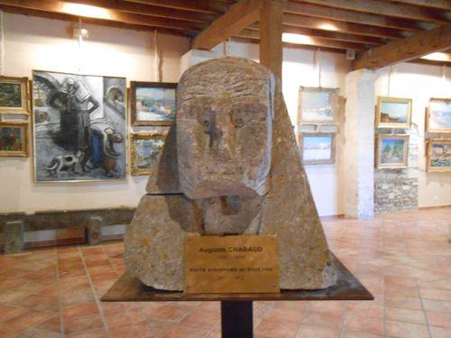 Auguste Chabaud Vieille provençale au front ridé pierre d