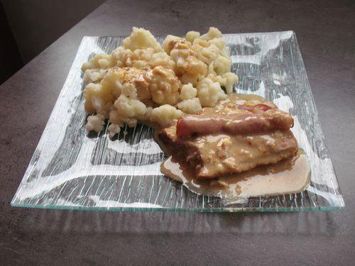 rôti de porc saint nectaire bacon de cécile