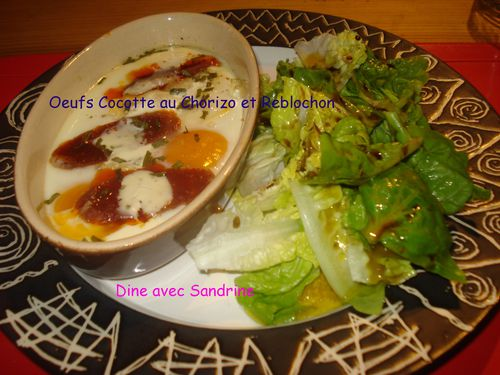 Oeufs Cocotte au Chorizo et Reblochon 6