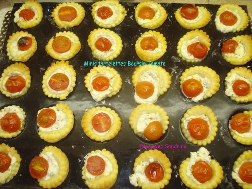 Mini tartelettes Boursin tomate 4