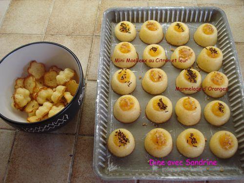 Mini moelleux au citron et marmelade d'oranges 8
