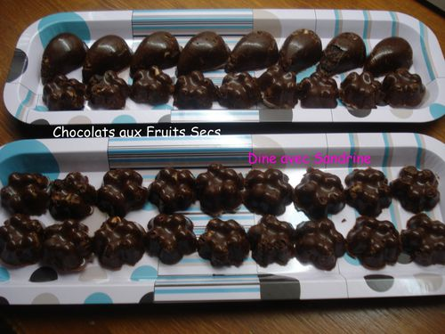 Chocolats aux fruits secs 7