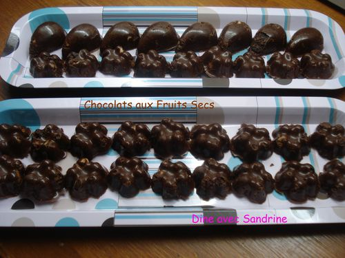 Chocolats aux fruits secs 8