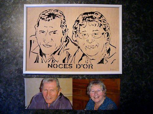 Noces d'or portraits chantourner