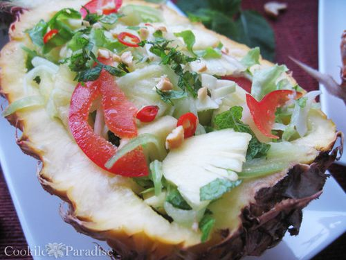 Douce fra che parfum e ma salade d 39 ananas des iles for Salade entree originale