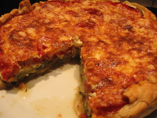 tarte courgettes-tomates-cheddar