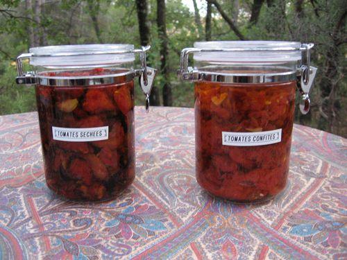 tomates confites et séchées