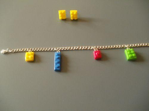 boucle d'oreille lego