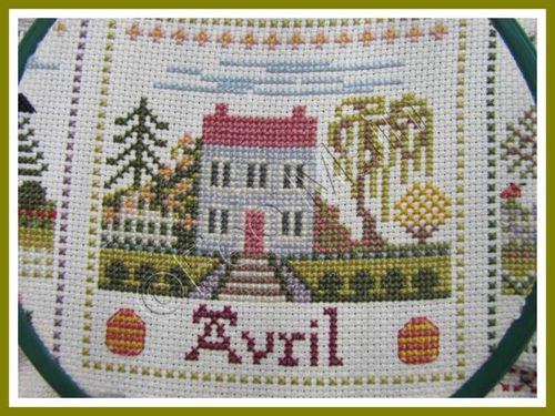 broderie Maison de Campagne Avril 1