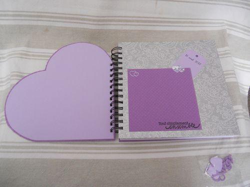 livre d'or argent et violet coeur (3)