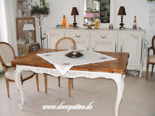 erneuerung von m bel oberfl che deco patine workshops zum relooking von m beln im shabby chic. Black Bedroom Furniture Sets. Home Design Ideas