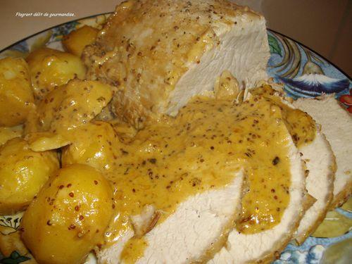 Filet de porc bi re et moutarde flagrant d lit de - Cuisiner un filet mignon de porc en cocotte ...