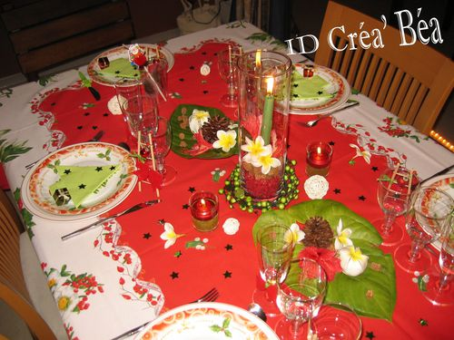 decoration table de noel vert et rouge. Black Bedroom Furniture Sets. Home Design Ideas