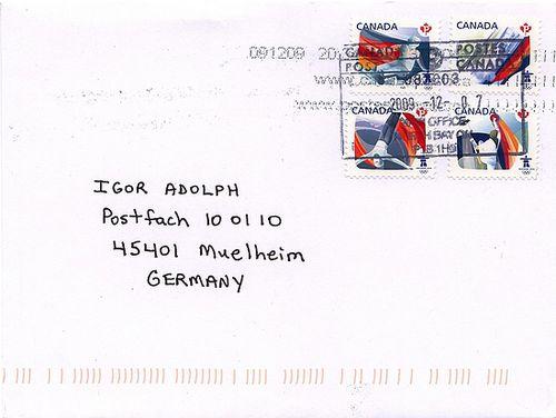 Briefmarken Sport Canada