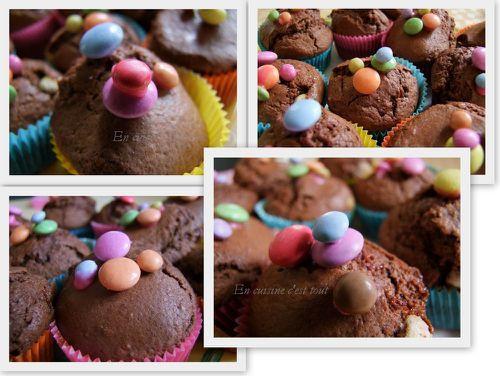 Montage muffins smarties