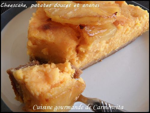 Cheesecake patates douces et ananas.-border