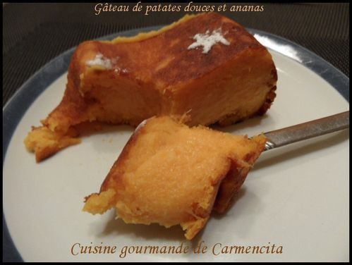 Gâteau de patates douces-border