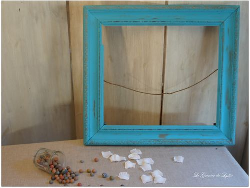grand cadre turquoise