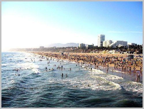 Santa monica beach dehk