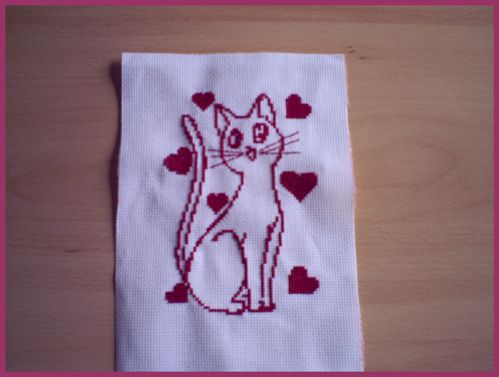 broderie chat adoré 10