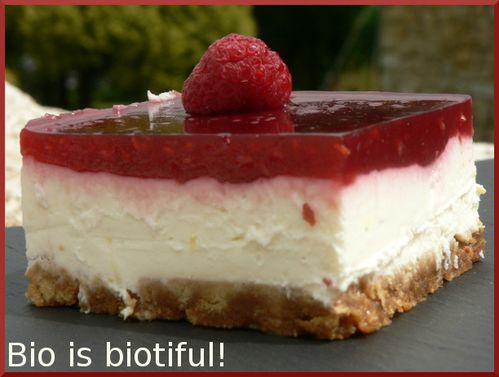 Cheesecake citron framboise au philadelphia sans cuisson bio is biotiful - Cheesecake speculoos sans cuisson ...