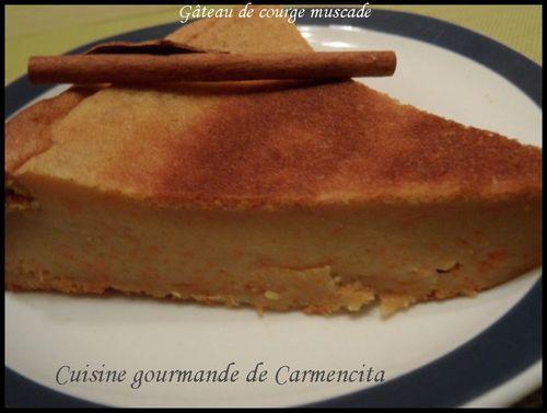 gâteau de courge muscade