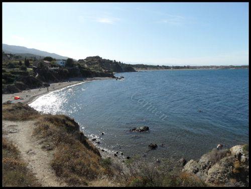Une des plages des criques du Racou