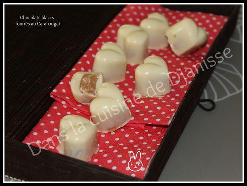 Chocolats blancs au Caranougat