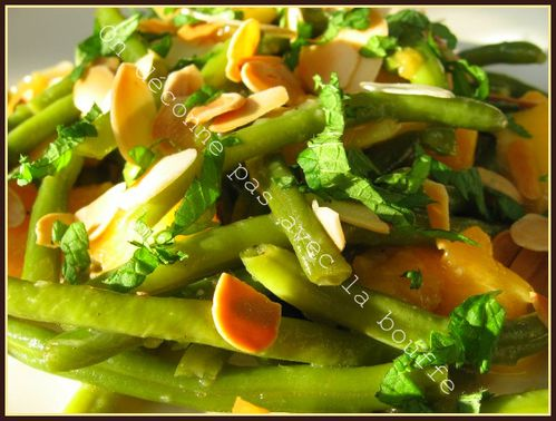 salade haricots verts pêches 011