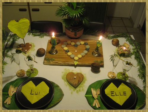 Table St-Valentin Robinson Crusoé 1