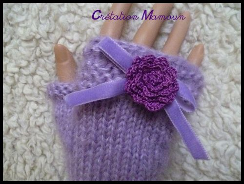 mitaines mohair lilas 3