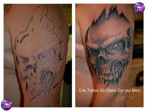 Tatouage Crane-Skull- Oeil