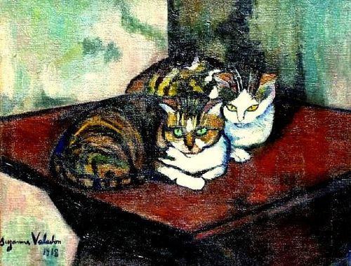 Chat dans l\'art : Les deux chats - Chatterie Cuore di léone, chats ...