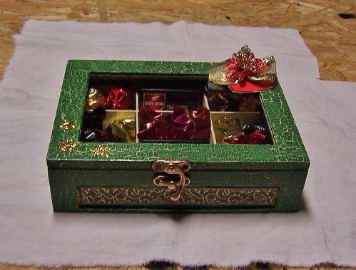 boîte chocolats Noël