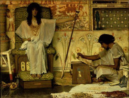Lawrence Alma-Tadema, Joseph gardien des greniers de Pharaon, 1874 New York, Dahesh Museum of Art
