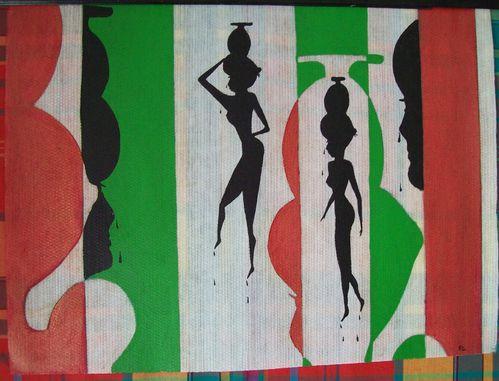 50.5x38.5 cm. toile , oil . serie de 4 . discrétion. 2007
