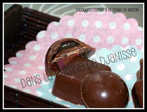 Chocolat crème de marrons