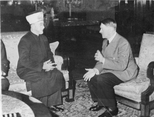 Grand mufti + Adolf Hitler